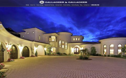 Screenshot of Home Page gghomes.com - Home - Gallagher & GallagherGallagher & Gallagher | San Diego Fine Homes & Luxury Real Estate - captured Jan. 23, 2016