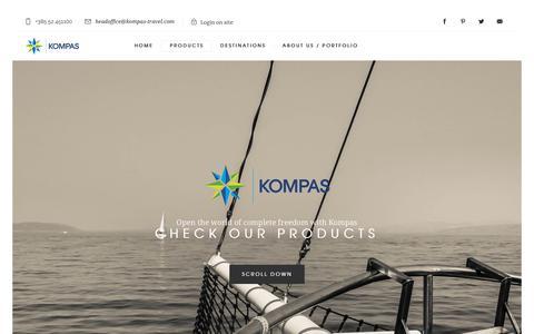 Screenshot of Products Page kompas-travel.com - Products - Kompas travel, Porec, Istria, Croatia - captured Oct. 17, 2017