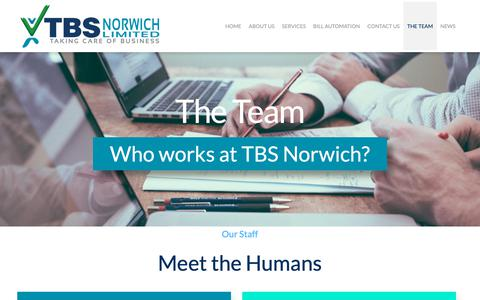 Screenshot of Team Page tbsnorwich.co.uk - The Team   TBS Norwich Limited - captured Oct. 18, 2018