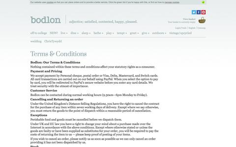 Screenshot of Terms Page bodlon.com - Bodlon Terms & Conditions | Bodlon - captured Sept. 30, 2014