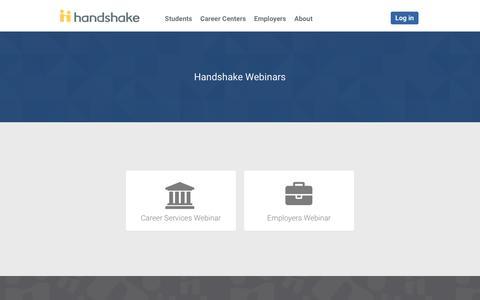 Webinars | Handshake
