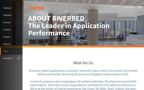 Screenshot of About Page riverbed.com - About Overview | Riverbed | US - captured Dec. 16, 2016