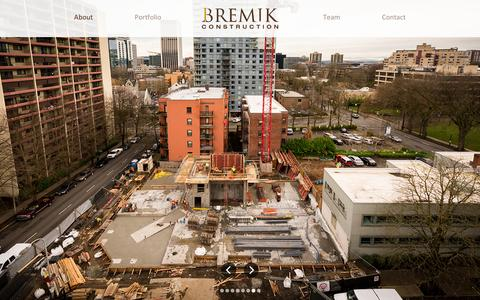 Screenshot of About Page bremik.com - About | Bremik Construction - captured Feb. 8, 2016