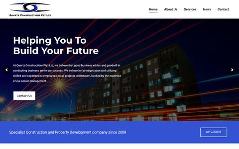 Screenshot of Home Page quartz-construction.com - Home - Quartz Construction - captured Oct. 23, 2018