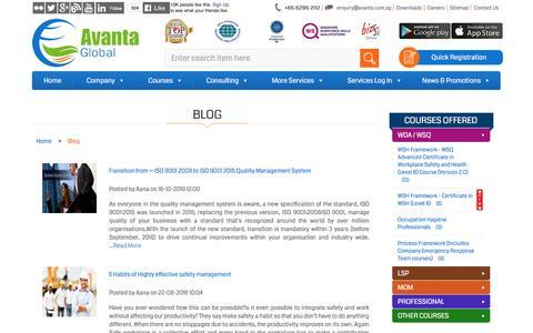 Screenshot of Blog avanta.com.sg - Avanta Global   Blog - captured Nov. 21, 2016