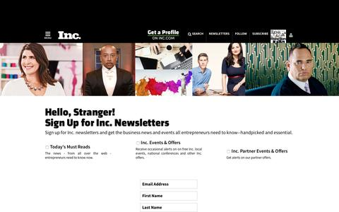 Sign Up for Inc. Newsletters | Inc.com