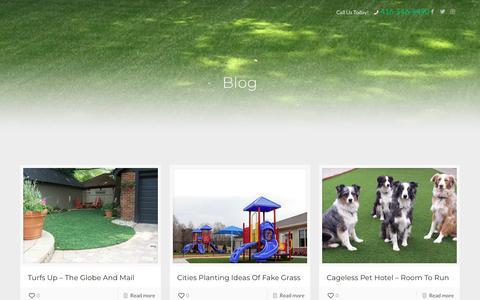 Screenshot of Blog designturf.ca - Blog | Artificial Grass Toronto | Design Turf - captured Oct. 8, 2018