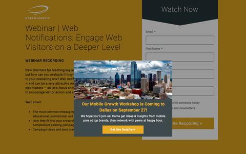 Webinar | Web Notifications GMT