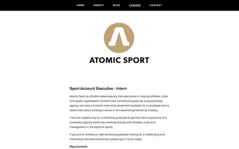 Screenshot of Jobs Page atomic-sport.com - CAREERS — ATOMIC SPORT - captured Dec. 27, 2015