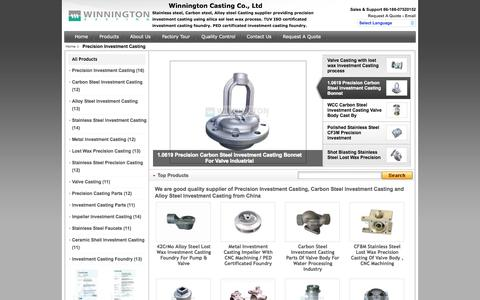 Screenshot of Home Page precision-investmentcasting.com - Good Quality Precision Investment Casting & Carbon Steel Investment Casting on sale - captured Oct. 6, 2014