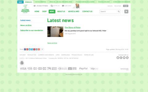 Screenshot of Press Page childrensmattressesonline.co.uk - Latest news | News | Childrens Mattresses Online | Babywise Mattress - captured July 29, 2017
