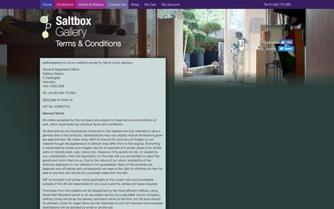 Screenshot of Terms Page saltboxgallery.co.uk - Terms & Conditions | Saltbox Gallery - captured Oct. 4, 2017