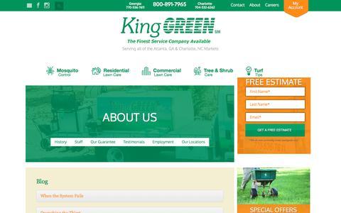 Screenshot of Blog kinggreen.com - Blog - captured Sept. 20, 2018