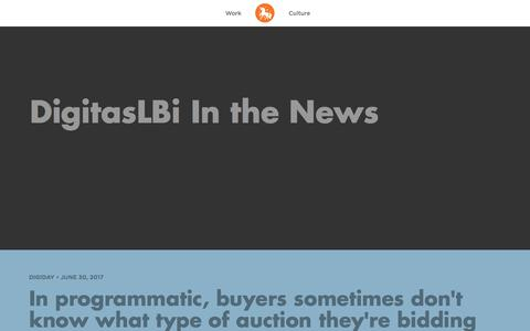 Screenshot of Press Page digitaslbi.com - DigitasLBi | In The News - captured July 8, 2017