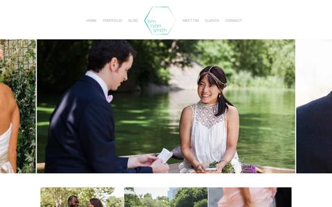 Screenshot of Home Page timryansmith.com - Tim Ryan Smith - Lifestyle Wedding Photography - NYC - captured Feb. 16, 2016