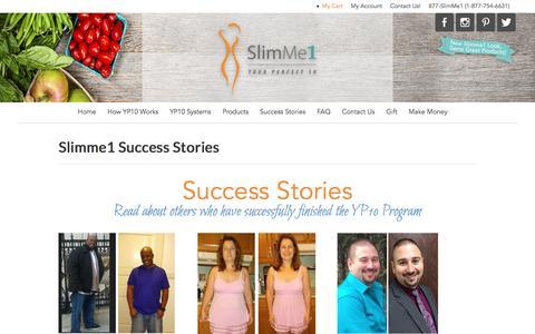 Screenshot of Testimonials Page slimme1.com - Success Stories - captured Dec. 1, 2016