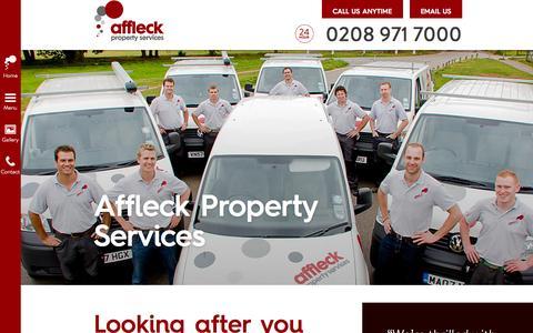 Screenshot of About Page affleckservices.co.uk - Affleck Property Services | London - captured Nov. 2, 2014