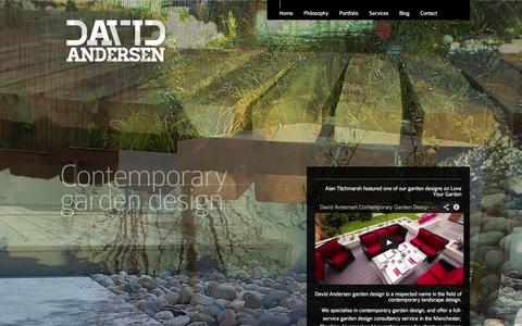 Screenshot of Home Page davidandersen.co.uk - David Andersen Contemporary Garden Design in Manchester and Liverpool - captured Sept. 23, 2014