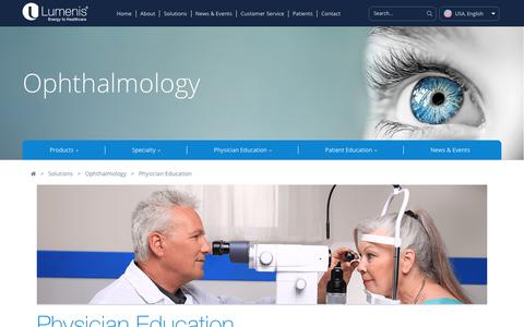 Ophthalmic Education - Physicians | Lumenis Ophthalmic Lasers