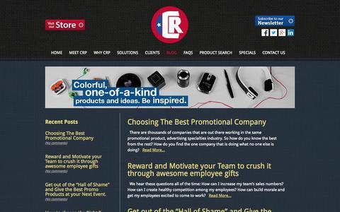 Screenshot of Blog crpromotionsrule.com - promotional giveaways | Custom apparel | CR Promotions | logos - captured Oct. 1, 2014