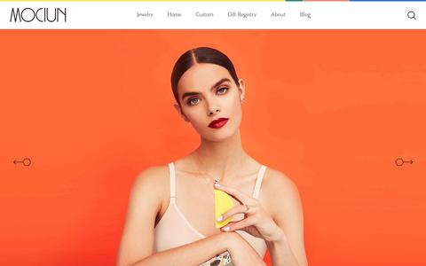 Screenshot of Home Page mociun.com - MOCIUN Jewelry + Home Goods - captured May 25, 2017
