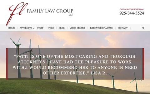 Screenshot of Home Page cafamilylawgroup.com - Livermore Family Law Attorney | Walnut Creek Divorce | Family Law Group, LLP - captured Oct. 13, 2017
