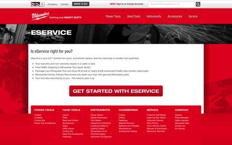 eService | Milwaukee Tool