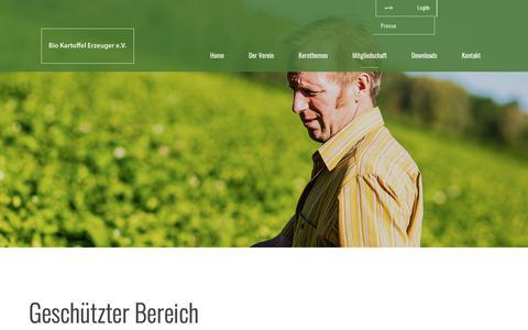 Screenshot of Login Page bke-verein.de - Login - Rundbriefe - Bio Kartoffel Erzeuger eV - captured Dec. 1, 2018