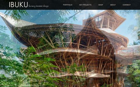 Screenshot of Home Page ibuku.com - Ibuku Bamboo Architecture and Design - captured Sept. 22, 2014