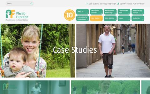 Screenshot of Case Studies Page physiofunction.co.uk - Case Studies | PhysioFunction - captured Jan. 28, 2016