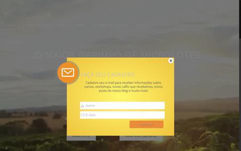 Screenshot of Home Page luccacafesespeciais.com.br - Lucca Cafés Especiais - captured Dec. 6, 2018