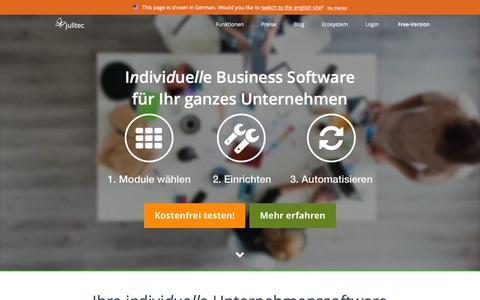 Screenshot of Home Page julitec.com - Individuelle Business Software | CRM, Aufträge, Abrechnung, Projekte - captured Feb. 5, 2016