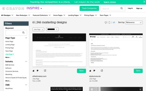 Screenshot of Jobs Page crayon.co - Jobs Pages | Website Inspiration and Examples | Crayon - captured Feb. 2, 2018