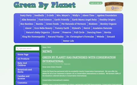 Screenshot of Press Page greenbyplanet.com - News – Green By Planet - captured Sept. 30, 2014