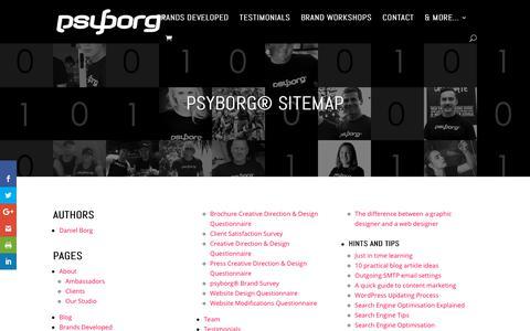 Screenshot of Site Map Page psyborg.com.au - Sitemap » psyborg® Newcastle & Lake Macquarie - captured Sept. 30, 2018