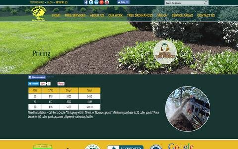 Screenshot of Pricing Page 404cuttree.com - Wholesale Mulch Pricing - captured Dec. 14, 2016