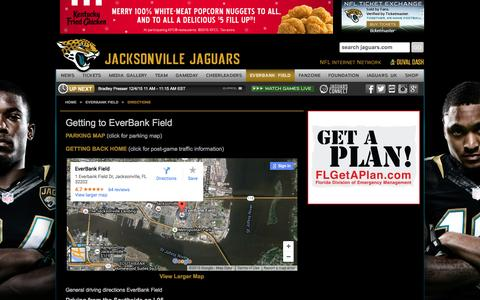 Screenshot of Maps & Directions Page jaguars.com - Directions - jaguars.com - captured Dec. 4, 2015