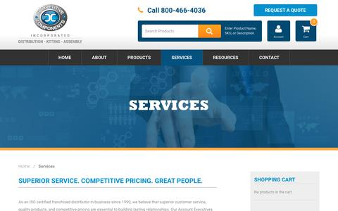 Screenshot of Services Page thinkcompetitive.com - Services - Competitive Components - captured Dec. 15, 2018
