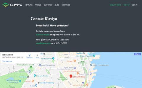 Contact Klaviyo - Klaviyo