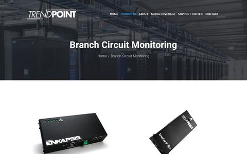 Screenshot of Products Page trendpoint.com - Branch Circuit Monitoring - Trendpoint - captured Oct. 20, 2018