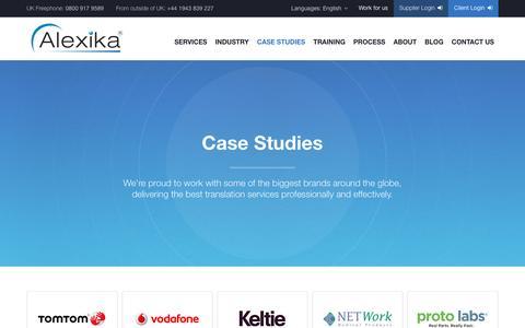 Screenshot of Case Studies Page alexika.com - Case Studies - Alexika - captured Feb. 5, 2016