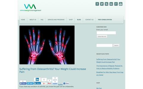 Screenshot of Blog virtualweightmanagement.com - Virtual Weight Management Blog - Virtual Weight Management - captured June 13, 2017