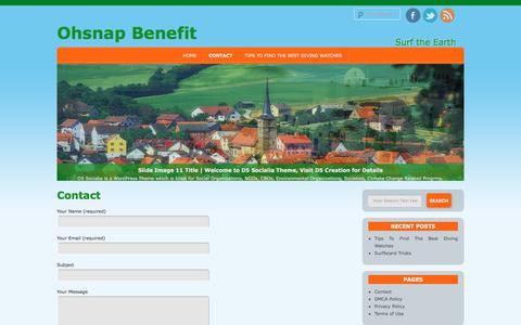 Screenshot of Contact Page ohsnapbenefit.com - Contact   Ohsnap Benefit - captured Oct. 19, 2017
