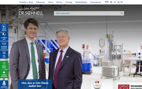 Screenshot of Home Page dr-schnell.com - ČQualitŠt und ServiceÇ ist unser Ma§stab in allem, was wir tun: DR.SCHNELL - captured Jan. 14, 2016