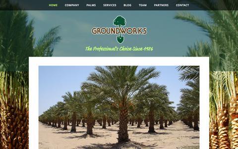 Screenshot of Home Page datepalm.com - Palm Trees | Canary Island Date Palm | Medjool Date Palm | Zahidi Date Palm - captured Oct. 3, 2014