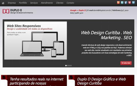 Screenshot of Home Page duplod.com.br - Duplo D Web Design Curitiba | Marketing | Desenvolvimento de Sites SEO - captured Oct. 5, 2014