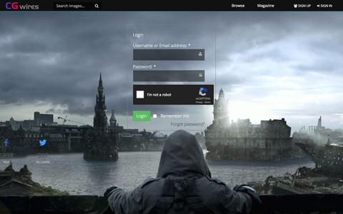 Screenshot of Login Page cgwires.com - Login - cgwires - captured May 12, 2017