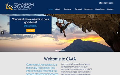 Screenshot of Home Page caaa.biz - Home | Commercial Associates | CAAA | Accountants - captured Sept. 19, 2015
