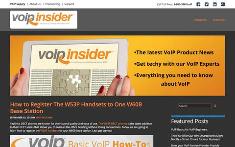 Screenshot of Blog voipsupply.com - VoIP Insider - Everything You Need to Know About VoIP - captured Sept. 19, 2018