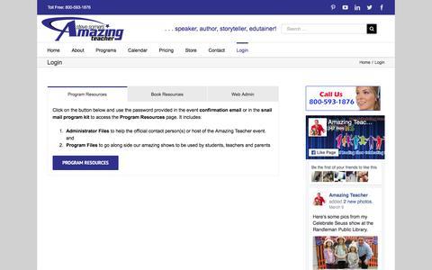 Screenshot of Login Page amazingteacher.com - Login - Amazing Teacher - captured May 30, 2017